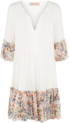 Traffic People Dew Tunic Mini Dress In White