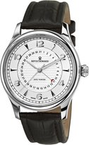Revue Thommen 10012-2532 Men's XLarge Date Pointer Wrist Watch, Dial with Brown Band