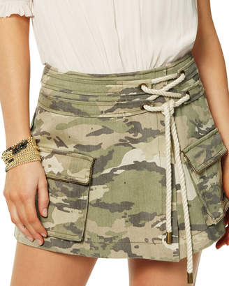Ramy Brook Rickie Camo Cargo Skirt