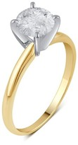 1.0 CT. T.W. IGL certified Round-cut Diamond Solitaire Prong Set Ring in 14K Yellow Gold (HI-I3)