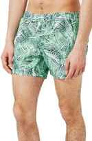 Topman Men's Jungle Palm Swim Trunks