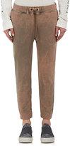 Robert Geller Men's Bleach-Effect Cotton Jogger Pants