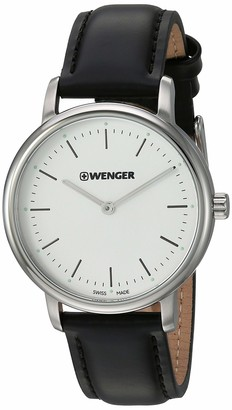 Wenger Women's Urban Classic Stainless Steel Swiss-Quartz Leather Strap
