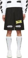 Off-White Black Spray Brushed Diagonals Shorts