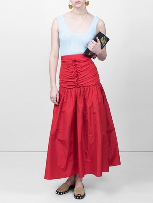 Stella McCartney Fitted Waist Skirt Red