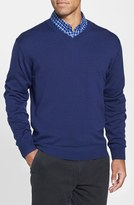 Cutter & Buck Men's Big & Tall 'Douglas' V-Neck Sweater