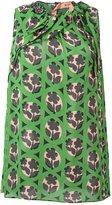 No.21 flower print blouse