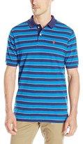 U.S. Polo Assn. Men's Short Sleeve Balanced Striped Pique Polo Shirt