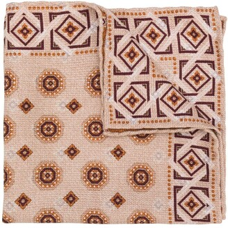 Brunello Cucinelli Geometric-Print Silk Scarf