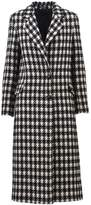 Tagliatore Single Breasted Houndstooth Coat