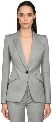 Alexander McQueen Peaked Lapels Cool Wool Jacket