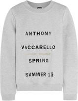 Anthony Vaccarello Printed cotton-blend jersey sweatshirt