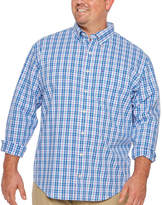Izod Ls Natural Stretch Multi Color Plaid Woven Long Sleeve Button-Front Shirt-Big and Tall
