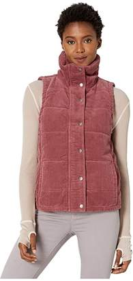 Mod-o-doc Corduroy Funnel Neck Snap Front Vest (Fig) Women's Clothing