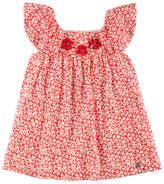 Pili Carrera Speckled-Print Eyelet Dress, Red, Size 4-10