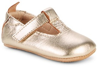 Old Soles Baby Girl's T-Strap Leather Ballet Flats