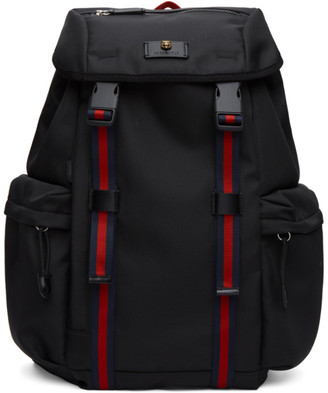 Gucci Black Medium Techno Canvas Backpack
