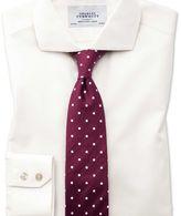 Charles Tyrwhitt Extra slim fit cutaway non-iron poplin cream shirt