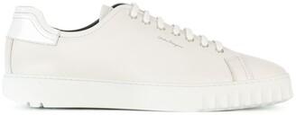 Salvatore Ferragamo Logo-Print Low-Top Sneakers