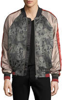 Eleven Paris Silk-Printed Satin Bomber Jacket