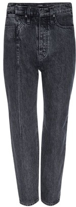 Hudson Elly High-Rise Pin-Tuck Straight-Leg Jeans