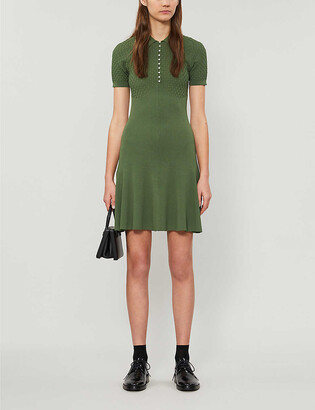 Sandro Ribbed knitted mini dress