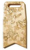 Maple Flag Board with Flower Engraving