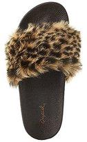 Charlotte Russe Qupid Leopard Faux Fur Slide Sandals