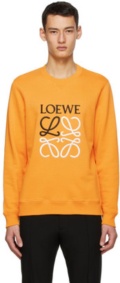 Loewe Orange Cotton Anagram Embroidered Sweatshirt