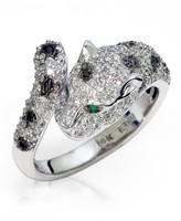 Effy Jewelry Signature White Gold Diamond & Emerald Ring, .90 TCW