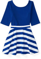Ralph Lauren Ponte Top & Striped Skirt Set