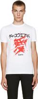 DSQUARED2 White Graphic T-Shirt