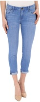 KUT from the Kloth Catherine Slim Boyfriend Jeans in Resilient w/ Medium Base Wash