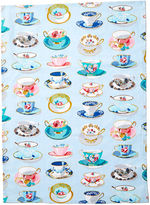 Maison Du Linge Tea Time Tea Towel, Blue/Multi