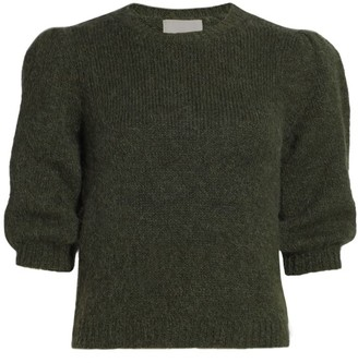 By Ti Mo Knit Puff-Sleeve Top