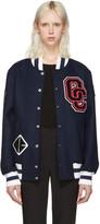 Opening Ceremony SSENSE Exclusive Navy Logo Varsity Jacket