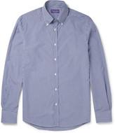 Ralph Lauren Purple Label - Cameron Slim-fit Button-down Collar Gingham Cotton Shirt
