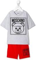Moschino Kids logo jersey tracksuit set