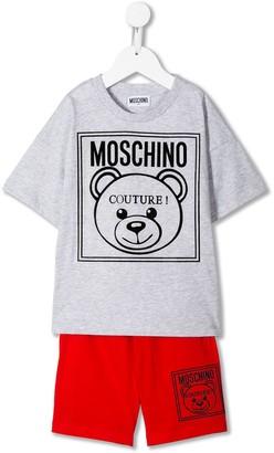 MOSCHINO BAMBINO Logo Jersey Tracksuit Set