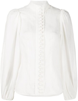 Zimmermann Long-Sleeve Fitted Blouse