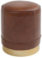 Kim Salmela Piper Stool - Chocolate Saddle Leather upholstery, chocolate saddle; base, brass