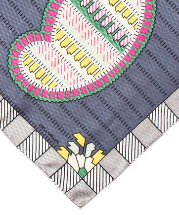 Delvaux Abstract Print Jacquard Silk Scarf