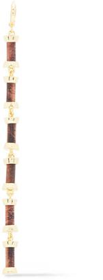 Noir 14-karat Gold-plated Wood Earrings