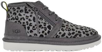 UGG Men's Neumel UGGpure-Lined Calf Hair Leopard-Print Chukka Boots