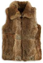 Surell Girls' Collared Fur Vest - Sizes S-XL