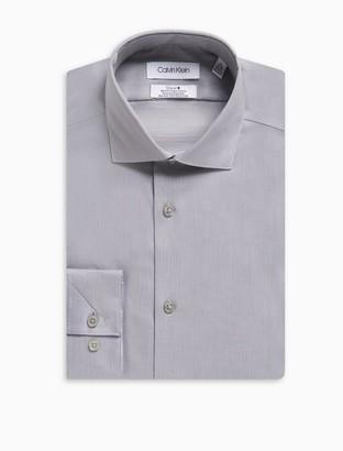 Slim Fit Herringbone Spread Collar Performance Non-Iron Dress Shirt