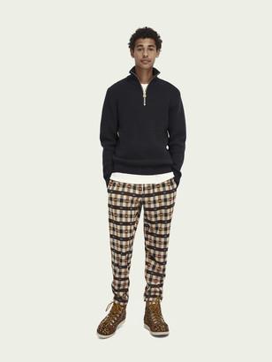Scotch & Soda Wool-blend half-zip knit pullover | Men