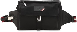Bally Logo Stripe Nylon Belt Bag