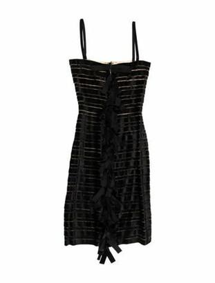 Oscar de la Renta 2012 Midi Length Dress Black