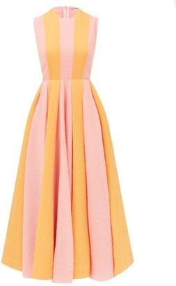 Emilia Wickstead Junie Striped Cotton-blend Seersucker Dress - Pink Multi